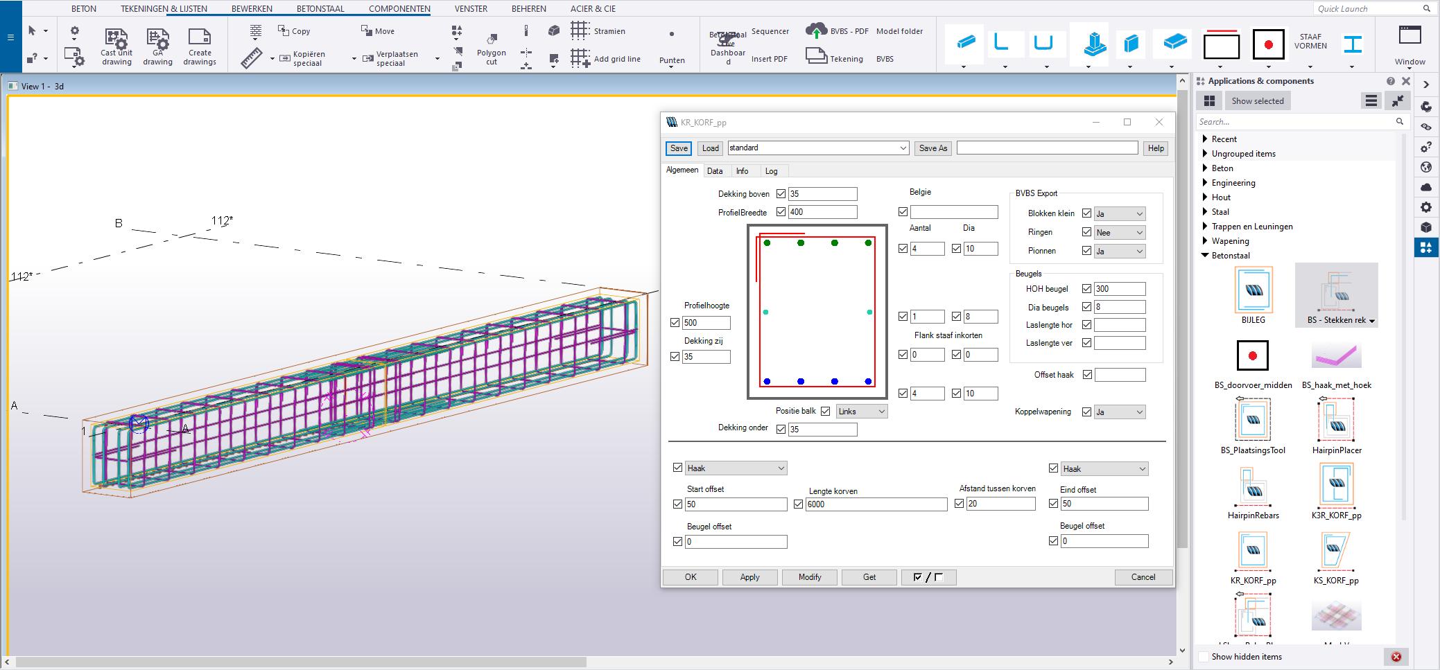 3D wapeningsmodel met BS-plugin