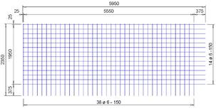 B 188 A bouwstaalnet Ø6mm | 5950 x 2350mm | 150 x 150