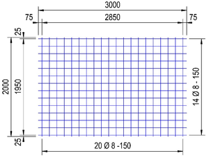 PS 335 A bouwstaalnet Ø8mm | 3 x 2 meter | 150 x 150
